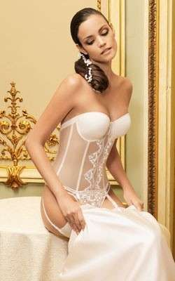 Ropa interior de novia: Fotos de las tendencias de 2015 - Conjunto sin tirantes para las novias de 2015