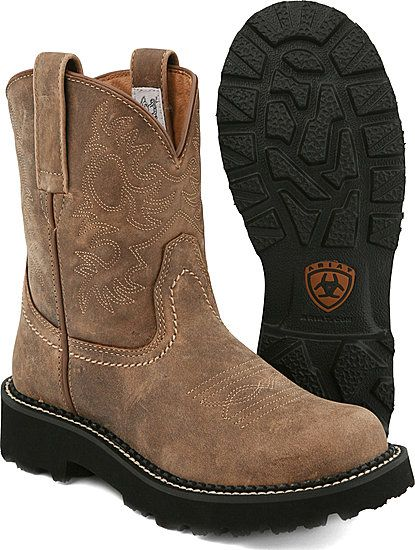 Ariat Boots. I have this pair of boots and I'm in love with them. They are so comfortable!