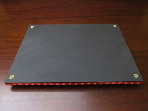 Desktop Chalkboard created from an old CD rack.  Turn table on the bottom.  Great for desk and table top.