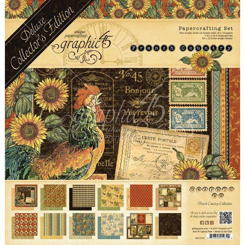 Graphic 45 - French Country Collection - Deluxe Collector's Edition - 12 x 12 Papercrafting Kit