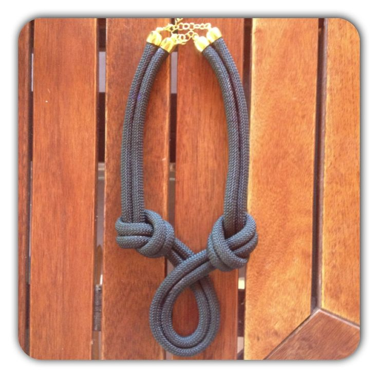 TWISTED rope necklace in black with double golden clasps ~rope comes in many color variations~