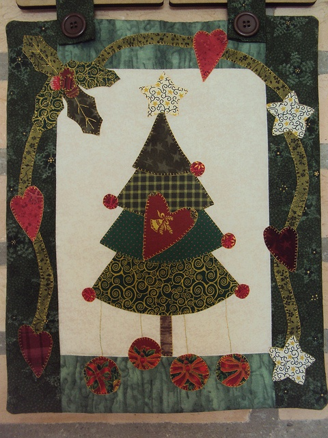 Panô de Natal by Mi Fernandes Patchwork, via Flickr