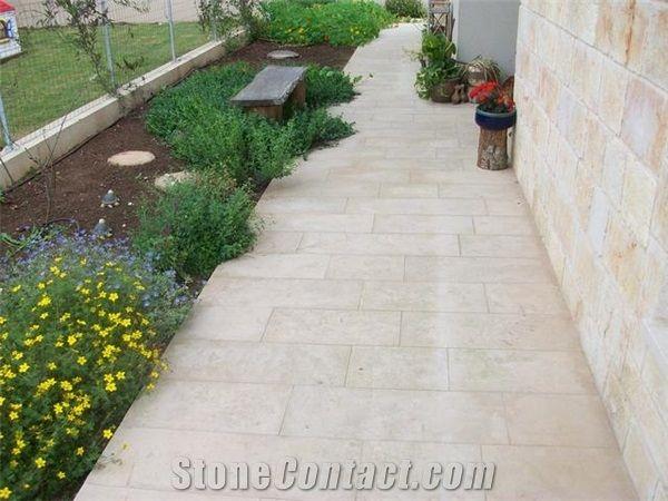 Jerusalem Stone Pavers, Jerusalem Bone Beige Limestone