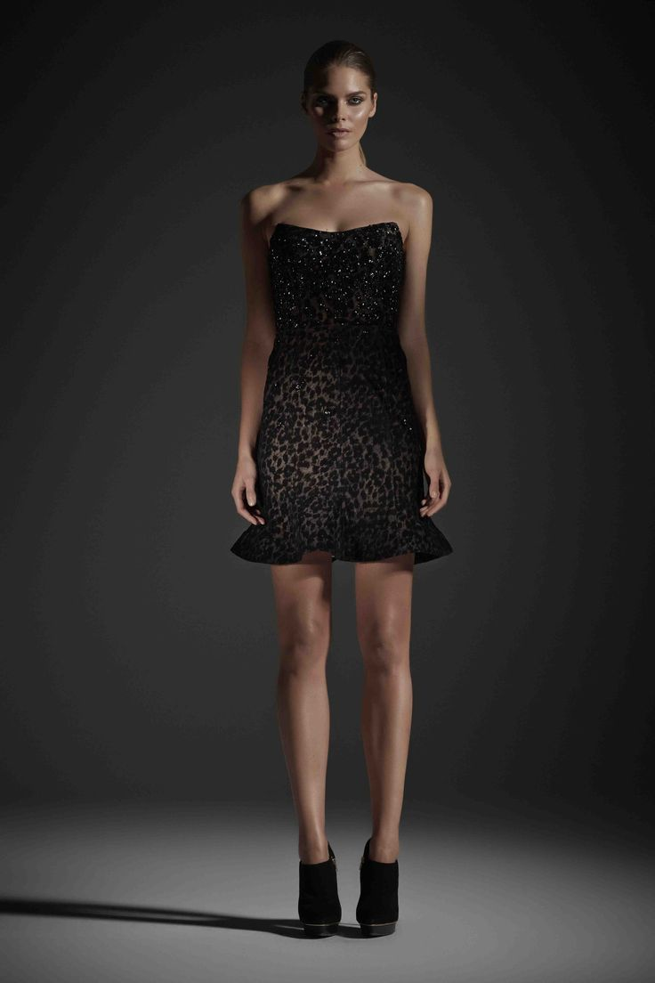 R14 EVA MINI DRESS BLACK
