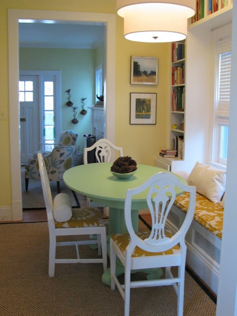 Small Round Table With Window Seat For The Home