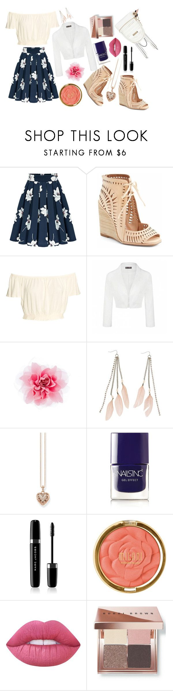 #4 by kitten-mittens on Polyvore featuring Ally Fashion, Jeffrey Campbell, River Island, Thomas Sabo, Charlotte Russe, Bobbi Brown Cosmetics, Milani, Marc Jacobs, Lime Crime and Nails Inc.