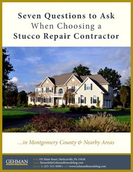 Stucco Repair 6abc reported on stucco repairs, watch the video Stucco can be a beautiful detail on a home, but if it is not installed/maintained properly, the result can be: • Serious Water Damage • Mold • Dangerous Weakening of a Home's Structure If water can't get out from behind stucco, then mildew, mold, and …