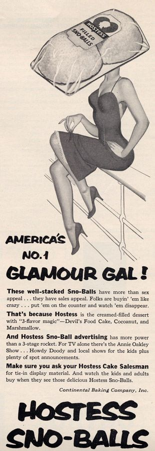 Vintage ad design by those mad-men of advertising....