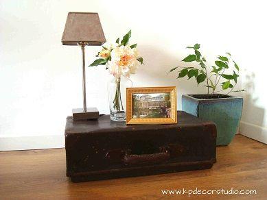 KP. Comprar y decorar con maletas antiguas. Maleta vintage original.