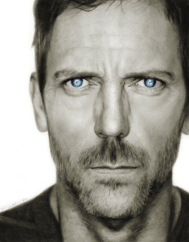 10 impressive pencil and charcoal celebrity portraits...