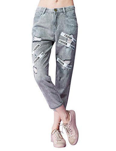 New Trending Denim: Elf Sack Girls Spring Holes Print Appliques Jeans Pants Grey Large. Elf Sack Girls Spring Holes Print Appliques Jeans Pants Grey Large   Special Offer: $35.99      399 Reviews Measurements:Size S:Length:33.86″ Waist:26.77″ Hip:36.22″;Size M:Length:34.65″ Waist:28.35″ Hip:37.80″;Size L:Length:35.43″...