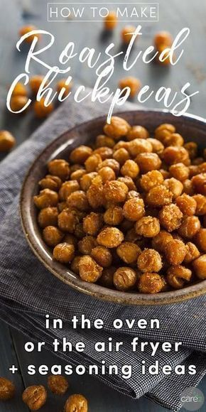 Roasted chickpeas are a crunchy, savory snack that's sneakily healthy! Here's a basic recipe for how to make roasted chickpeas in the oven or air fryer, plus ideas for ways to spice things up beyond the basic recipe.