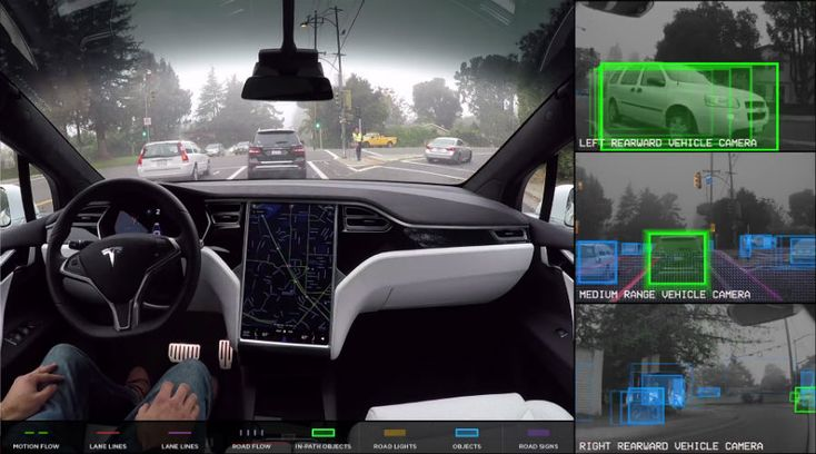 Tesla Video: This Is What A Tesla Cars Sees While Driving On Its Own  #news