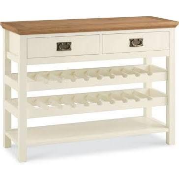 wine rack sideboard white and oak - Google Search