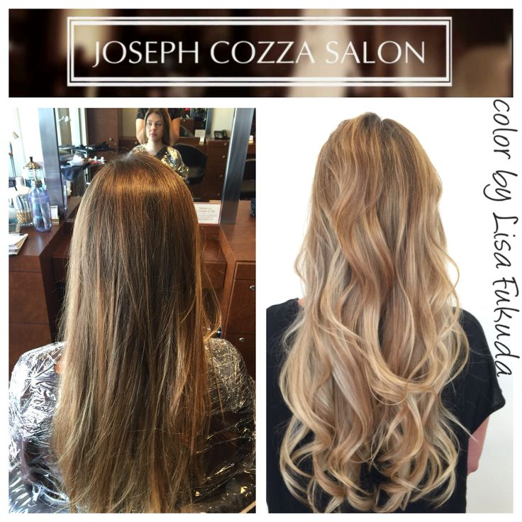 Balayage brunette blonde ombr highlights glaze olaplex for 77 maiden lane salon