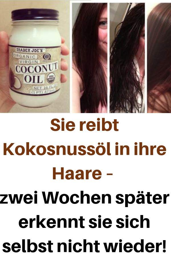 Sie reibt Kokosnussöl in ihren Haaren – zwei Wochen später erkennt sie sich selbst …
