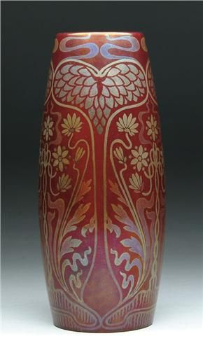 The Queen of Hearts puts the flowers she gets from the King of Hearts in her ZSOLNAY SECESSIONIST VASE