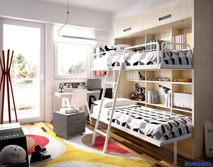 Que el espacio no te limite camas abatibles literas habitaciones juveniles y todo lo que for Habitaciones juveniles 3 camas
