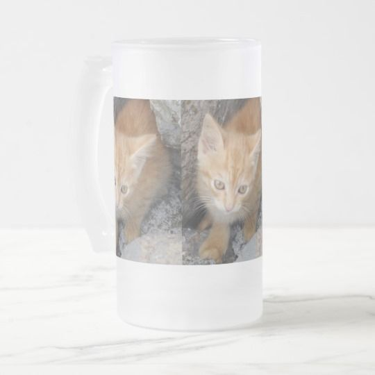#zazzle #Innocent #Kitten #Frosted #16 oz #Frosted #Glass #Mug #home #office #gift #giftidea #travel