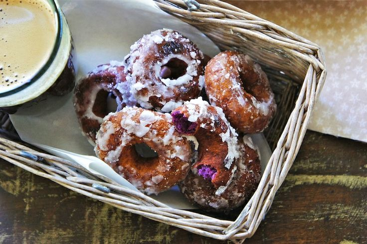 purple sweet potato donuts?! i LOVE purple sweet potatoes!