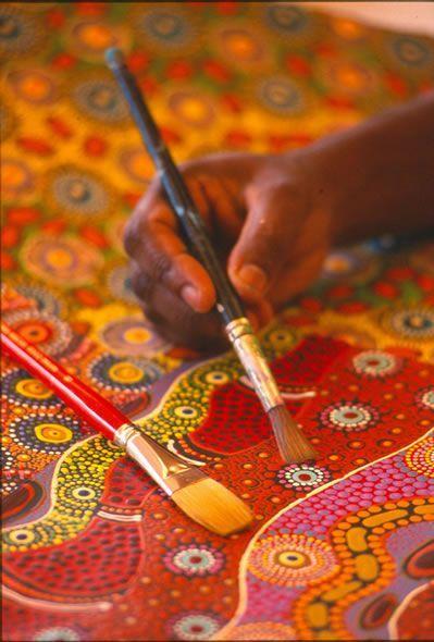 Australian Aboriginal Dot Painting!