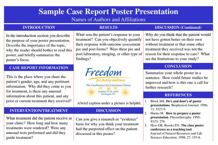 Poster Template 187 Case Report Poster Template Poster