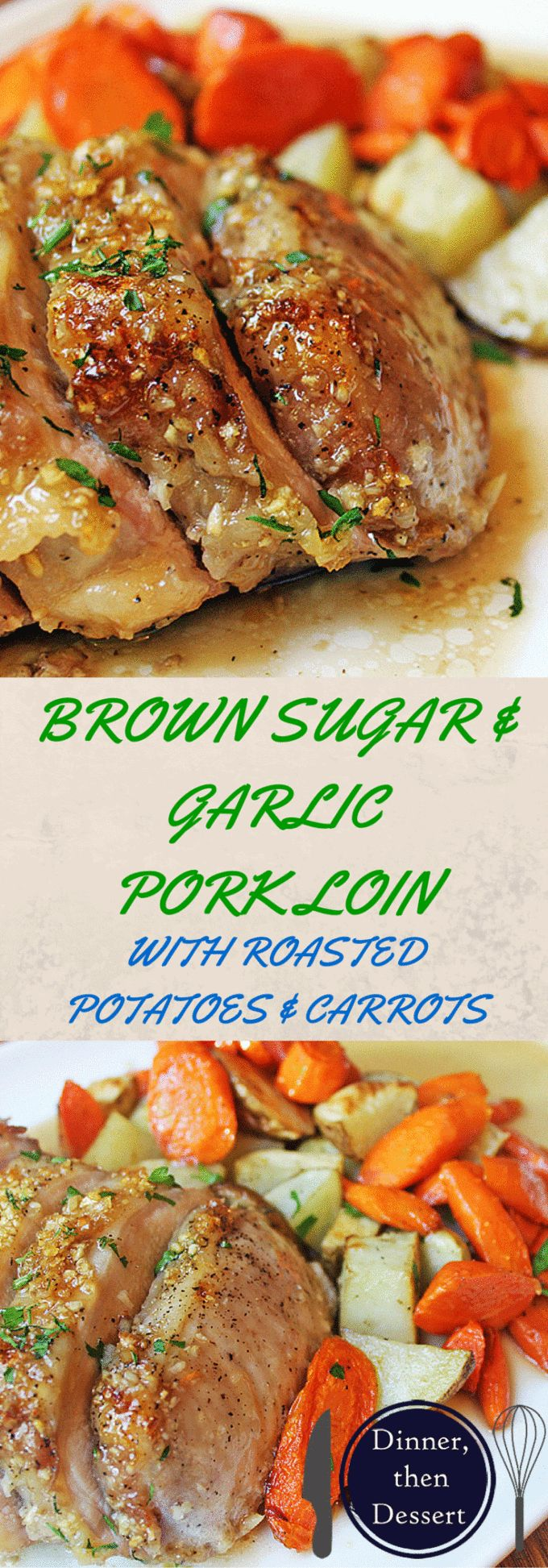 An easy meal, ready to roast in just a few minutes. Sticky and sweet with a punch of garlic, this pork loin is sure to be a huge hit with your family. Serve it up with some roasted carrots and potatoes on the side for a healthy balanced meal that is ready start to finish in 45 minutes!