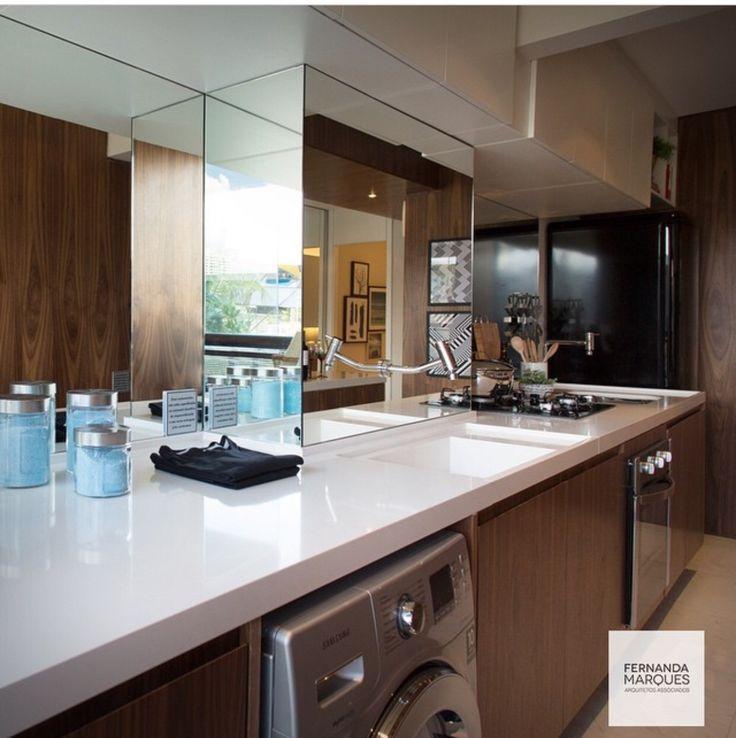 Cozinha e area de serviço integrada