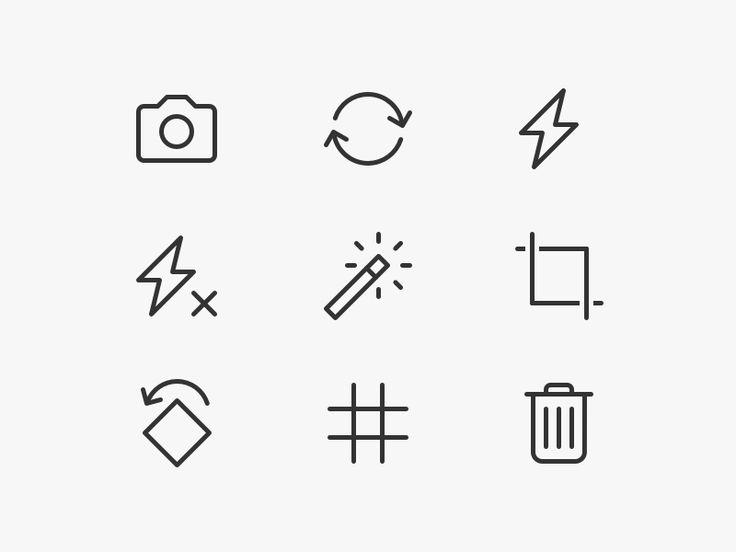 Avito Camera Icons by Denis Rodchenko
