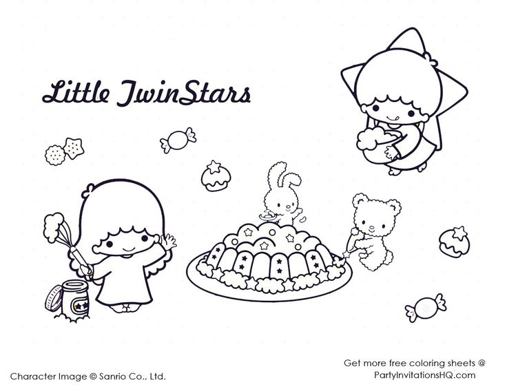 17 best images about coloring pages on pinterest for Little twin stars coloring pages