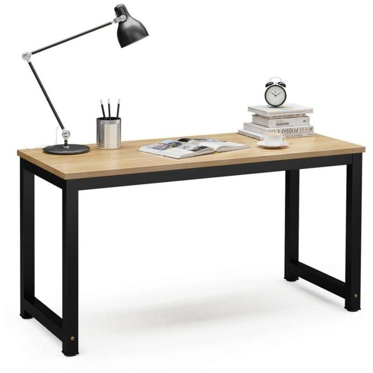 """Amazon.com : Tribesigns Computer Desk, 55"""" Large Office Desk Computer Table Study Writing Desk Workstation for Home Office, Light Walnut : Office Products 