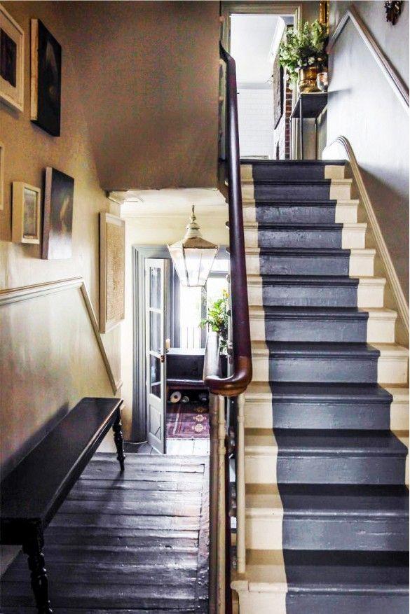 Painted stair runner 162 best EntryFoyerHallway images