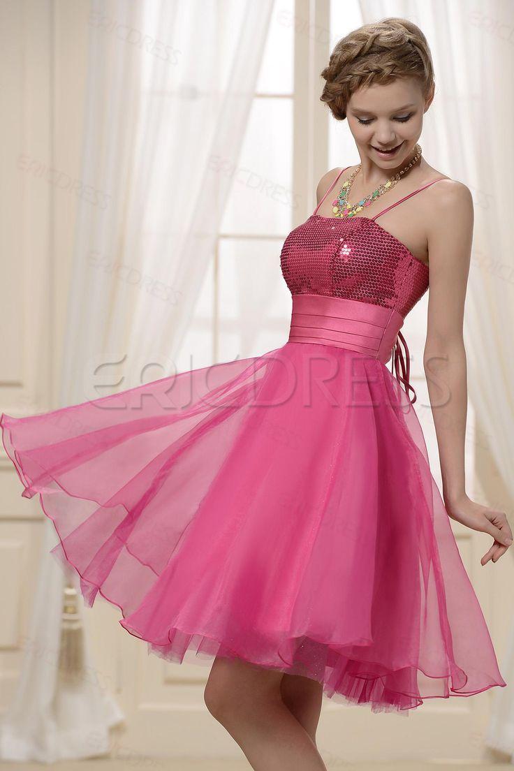 Sequin Bodice Crystal Bridesmaid  Dress