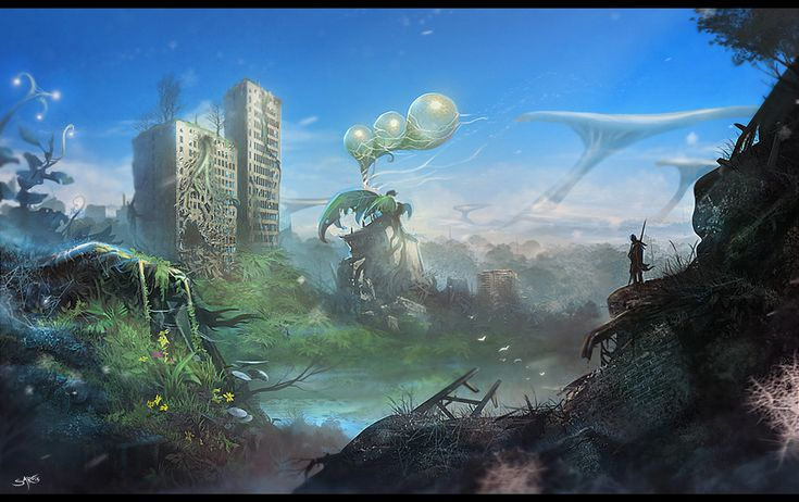 Plant world, Piotr Uzdowski on ArtStation at https://www.artstation.com/artwork/8mObm