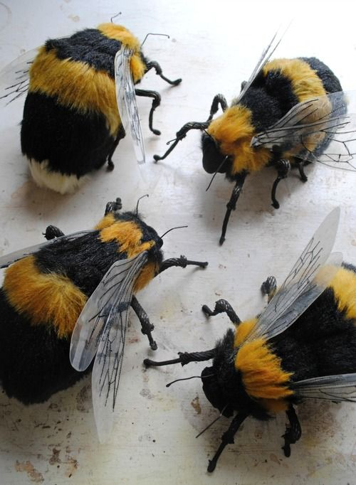 Textile Bees By Mister Finch