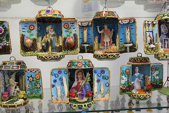 Religious shrines made from alumin cans