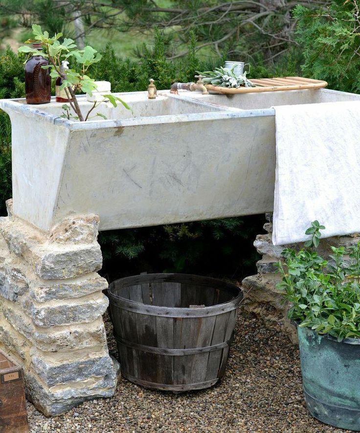 Concrete Outdoor Kitchen Countertops: 23 Best Cement Sinks Images On Pinterest