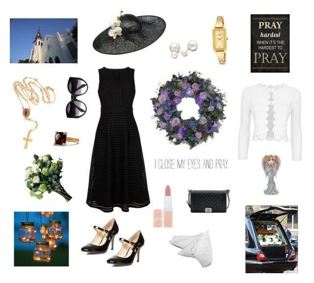 """Dress for the Funeral."" by rikke-grankvist on Polyvore featuring Alexander McQueen, Allurez, Rimmel, Bling Jewelry, Justin Bieber, Dorothy Perkins, Chanel, Biba, Maje and David Yurman"