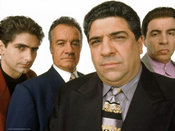 The original wise guys: Christopher, Paulie, Big Pussy and Silvio