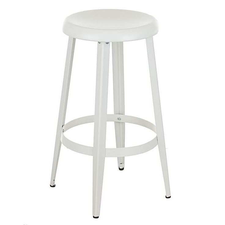 Tolosa  Classic Metal Round Kitchen Counter Stool in Matte White - AU$59 -  sc 1 st  Pinterest & 240 best Modern Bar Stools Collection images on Pinterest | Modern ... islam-shia.org