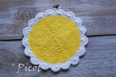 Picot - Szydełkowe Inspiracje: Słoneczna podkładka