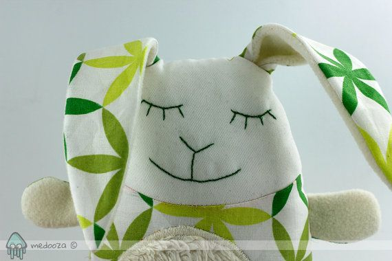 Green bunny toy
