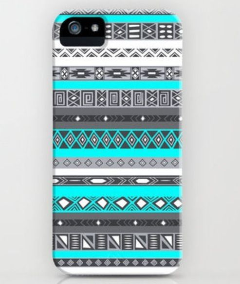 Aztec blue and grey pattern