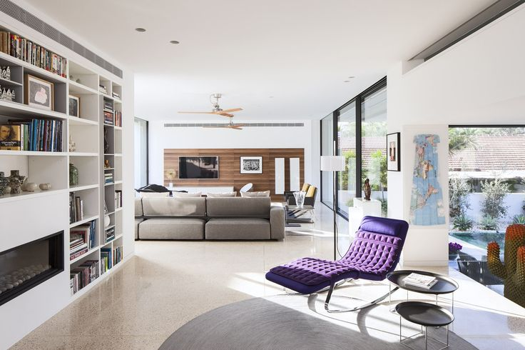 Reading area leads to Living