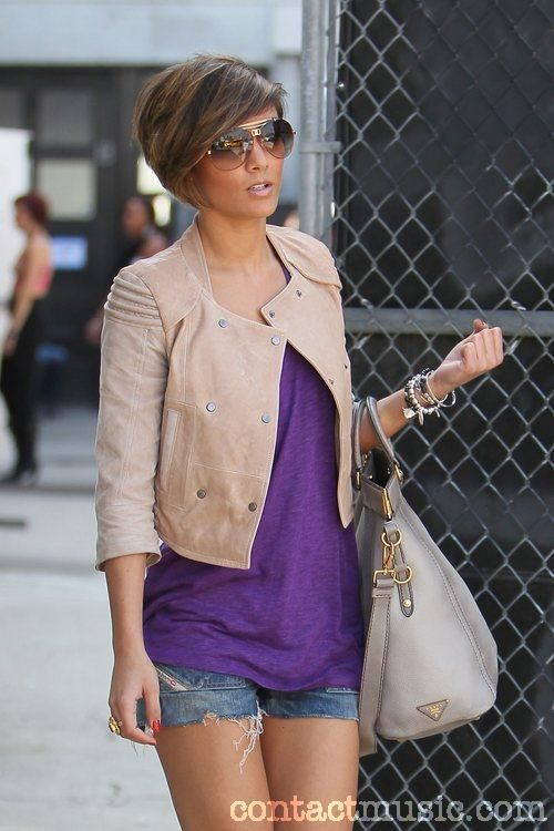 frankie sandford of The Saturdays.... If I every cut my hair again this will be the style!!!