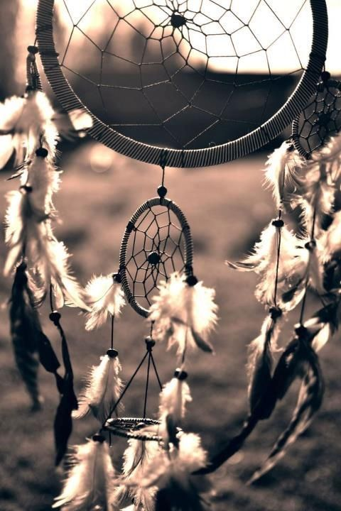 Black and white dream catcher photography