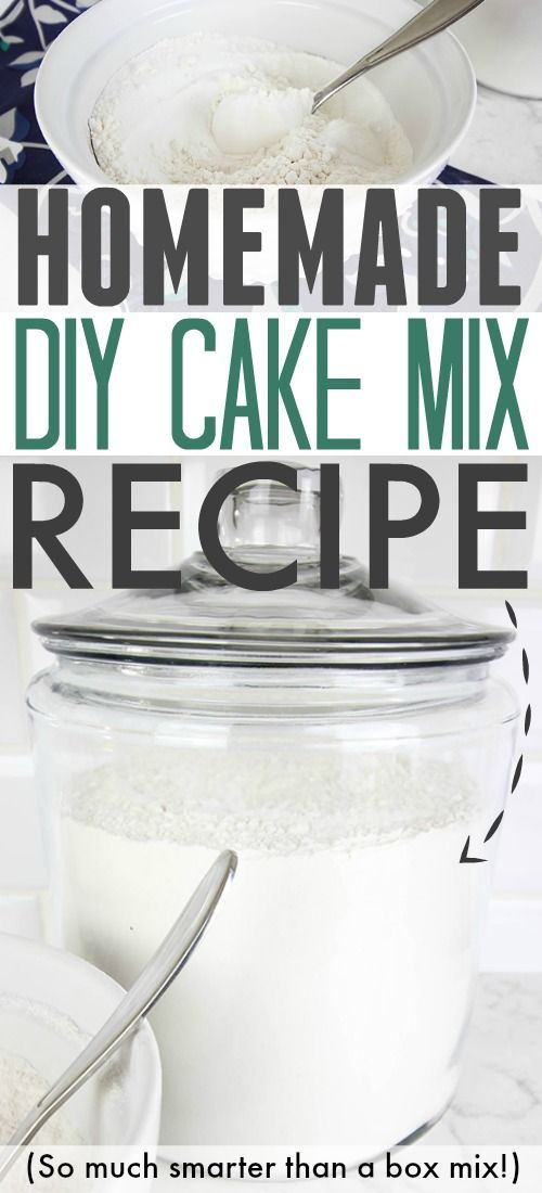 How to make your own cake mix at home instead of buying it in those little boxes!