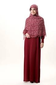 baju muslim jersey motif wanita muslimah