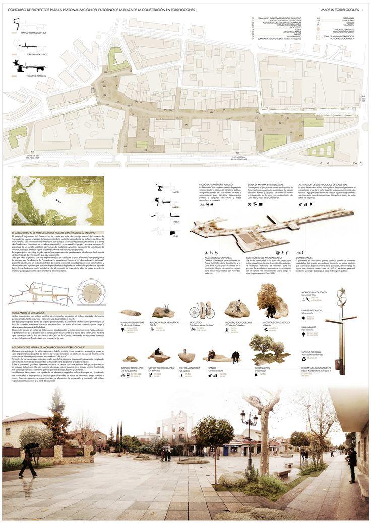 Panel 1 Made in Torrelodones Made In Torrelodones 2º premio en el Concurso para la Peatonalización del Centro Urbano de Torrelodones