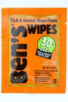 Bens Tick & Insect Repellent Wipes (Case of 60)